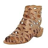 Everybody Women's Macello Gladiator Sandal, Cotton Tan, 39.5 EU/8.5 M US
