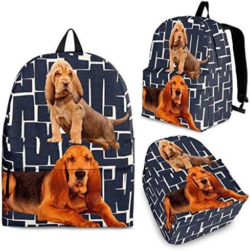 Bloodhound Dog Print Backpack / Bloodhound Dog Print Backpack