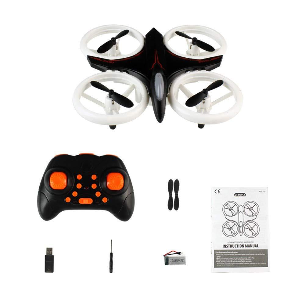 Fine XXD158 Cool Light 6-Axis Gyroscope Headless Mode Mini RC Quadcopter RTF 2.4GHz,One-Button Auto Return Headless Mode (Black)