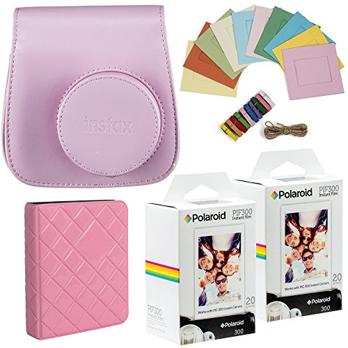 Polaroid PIF300 Instant Film - Designed for use with Fujifilm Instax Mini and PIC 300 Cameras (40 pack) Deluxe Bundle