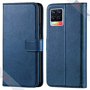Asgeot Leather flip Case Compatible with Realme 8 | Inside TPU with Card Pockets | Wallet Stand | Magnetic Closure | 360…