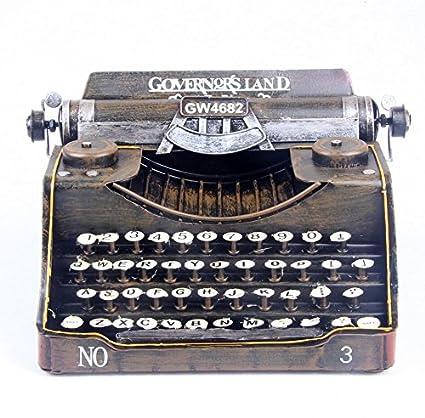 LD&P Nostálgico decoración metal máquina de escribir modelo fotográfica accesorios estudio artesanía artesanías muebles hogar artesanía