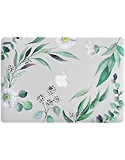 One Micron for MacBook Pro 13 Inch Case Soft Touch Plastic Hard Matte Case Floral Pattern Scratch Guard Cover for MacBook Pro 13''with Retina(A1425/A1502), Dandelion Green Leaves