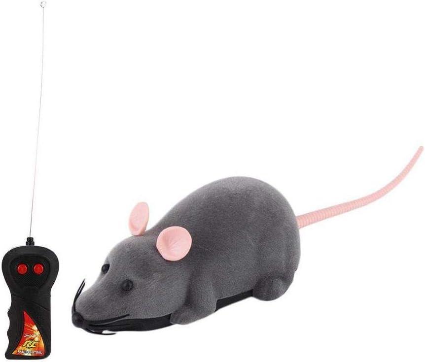 HUANG Control Remoto ratón de Juguete Gato inalámbrico Rata electrónica RC simulación ratón Juguete en Movimiento Divertido Regalo novedoso para Mascota Gatito