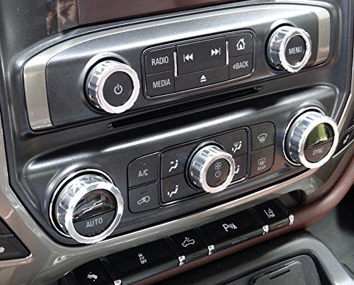 Kit - Fits 2014 to 2016 Chevy & GMC Trucks - With Polished Door Lock Pins (Billet Door Lock Pins)