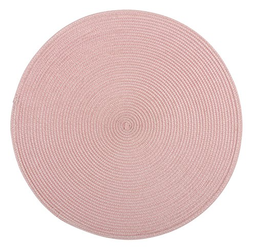 Lagerhaus Place Mat Round 4 Pack - Pink -  - placemats, kitchen-dining-room-table-linens, kitchen-dining-room - 51go%2B5aF%2B5L -