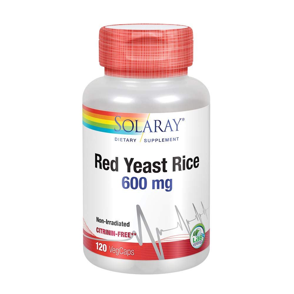 Solaray Red Yeast Rice 600mg | Healthy Heart & Cardiovascular System Support | Non-Irradiated & Citrinin-Free | Lab Verified | 120 VegCaps