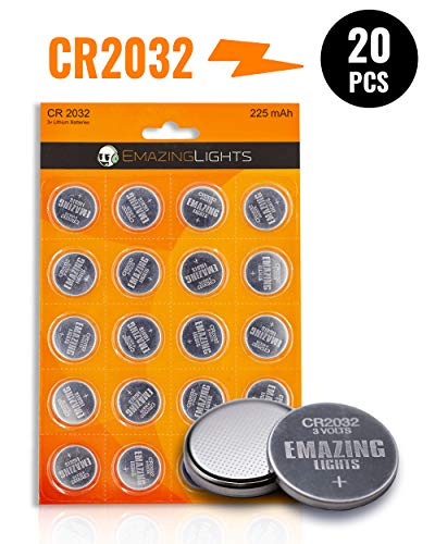 Cr2032 Lithium Button Cell Battery - EmazingLights CR2032 3V Lithium Battery (20 Pack) Lithium Button Cell Batteries