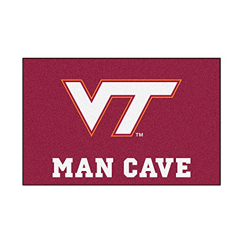 (FANMATS 14712 Virginia Tech Nylon Universal Man Cave Starter Rug)