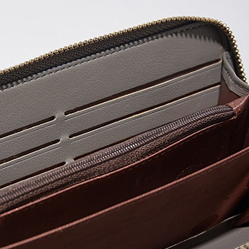Leather Wallet Clutch Handbag Holder PU Phone Lady Evening Crease Tassel 12 Soft Bag 3 Wedding Card Compartment 5 For Bag Resistant With Slots Stain Card Inch Zipper Women Purse Red Deep Wallet 5 OYtxPP