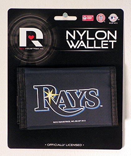 (Rico Industries Tampa Bay Rays Nylon Trifold Wallet)
