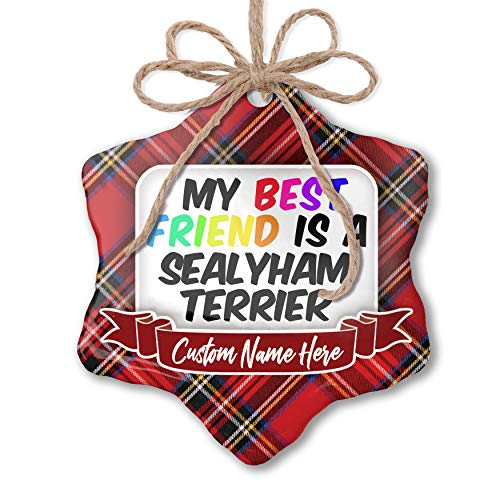 (NEONBLOND Customizable Ornament My Best Friend a Sealyham Terrier Dog from Wales add Your own Text!)