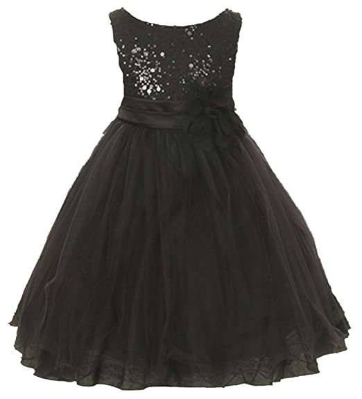 Amazon Kids Dream Girls Black Tulle Party Dress With Sparkles