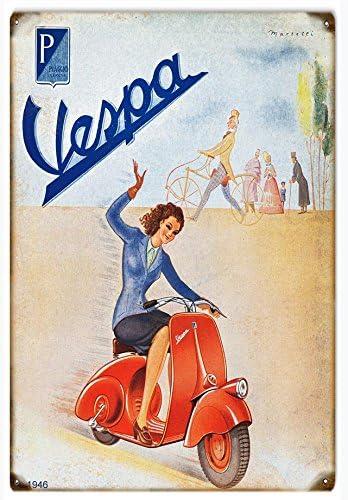 Amazon.com: Nostálgico Vespa motocicleta Scooter ...