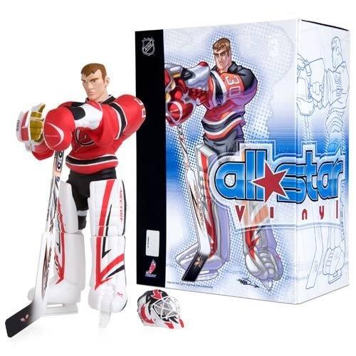 (UPPER DECK ALL*STAR VINYL NHL Collection_MARTIN BRODEUR figure_RED Devils Jersey)