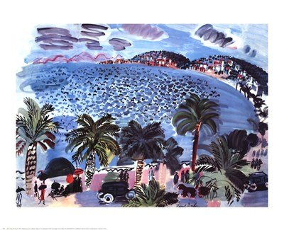 Mediterranean Scene by Raoul Dufy - 27x22 Inches - Art Print Poster