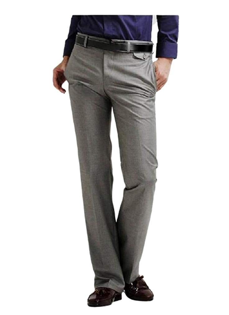 AngelSpace Mens Classic-Fit Comfort Soft Business Straight Chino Pants