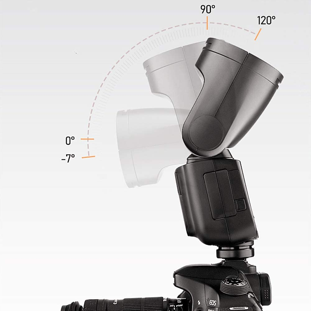 TTL Speedlight 2.4G Wireless System 1//8000s High-Speed Sync Godox V1-N Round Head Speedlite for Nikon 2600mAh Lithium Battery with 1.5s Recycle Time 10 Level LED Modeling Lamp