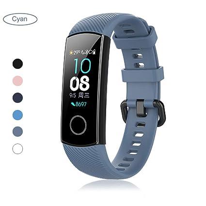 Correa para Smartwatch Huawei Honor Band 4, Pulsera de Silicona Brazalete de Repuesto Banda de