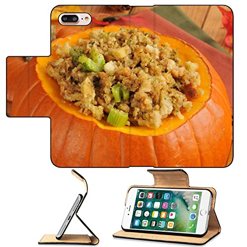 Cornbread Turkey Dressing (MSD Premium Apple iPhone 7 Plus Flip Pu Leather Wallet Case Cornbread stuffing with celery and turkey in a pumpkin IMAGE 23329510)