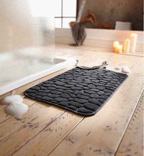 SIDCO ® Badteppich Badvorleger Badmatte Stone 50x80 cm Duschmatte Duschvorleger Teppich