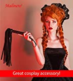 MALINERO Crop Whip Black - Faux Leather Horse