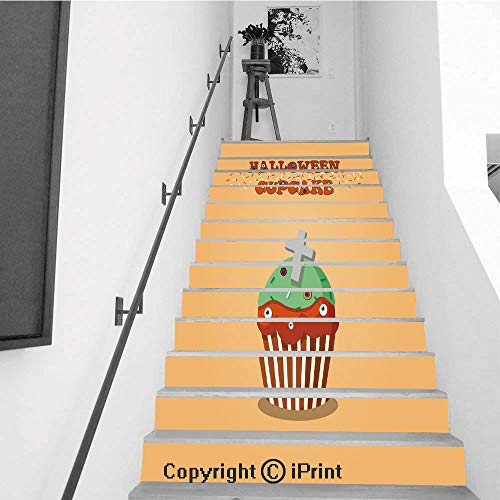 3D Printed Self-Adhesive Stairs Risers Stickers Wall,13pcs 7