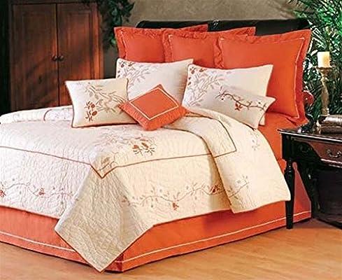 108 X 92 colcha para cama de matrimonio, diseño de flores