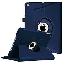 Fintie New iPad 9.7 inch 2017 / iPad Air Case - 360 Degree Rotating Stand Cover with Auto Sleep Wake for Apple New iPad 9.7 inch 2017 Tablet / iPad Air 2013 Model, Navy
