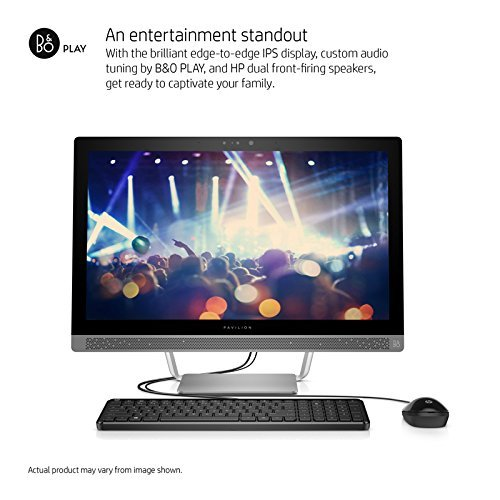 HP Premium All in One Desktop 23.8 Inch Full HD (1920x1080), 6th gen Intel Core i3-6100T 3.2Ghz processor, 8GB Ram, 1TB HDD,DVD Burner, WiFi/HDMI/Webcam, Win 10 (Renewed) (Samsung All In One Computer)