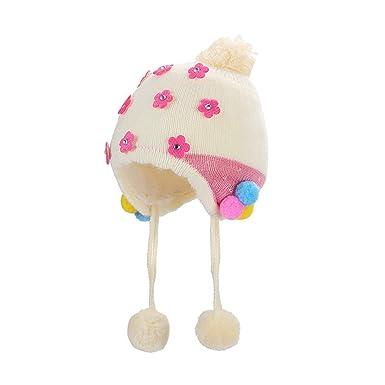 K-youth Gorras Bebé Recién Nacido Sombrero de Punto Niña Sombreros ...