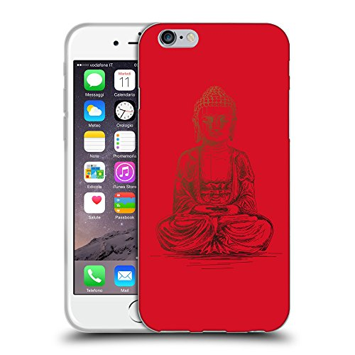 GoGoMobile Coque de Protection TPU Silicone Case pour // Q07690624 Bouddha 4 Cadmium Rouge // Apple iPhone 7