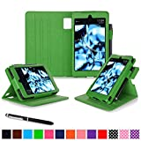 Fire HD 6 2014 Case, rooCASE Dual View Fire HD 6 Folio Case Cover with Stand [Supports Auto Sleep/Wake Feature] for Amazon Fire HD 6 2014, Green