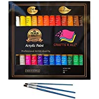 Acrylic Paint Set 24 Colors by Crafts 4 ALL Perfect For...