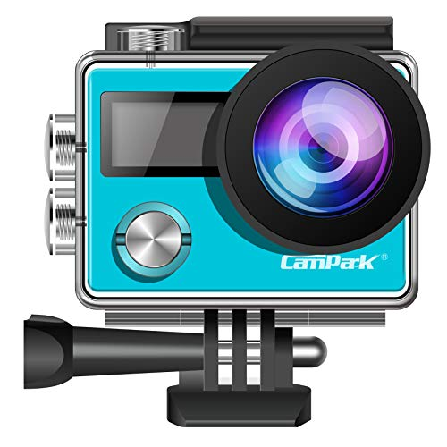 Action Camera Campark ACT73R 4K WIFI Waterproof Cam 2 Inch LCD Screen Underwater Camcorder with 170 Degree Wide Angle,Remote Control 2 Pcs Rechargeable Batteries and Portable Package Campark
