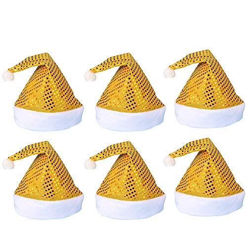 AOFITEE Sequin Santa Hat Sparkle Christmas Party Headwear