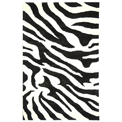 (Safavieh Soho Collection SOH717A Handmade White and Black Premium Wool Area Rug (3'6