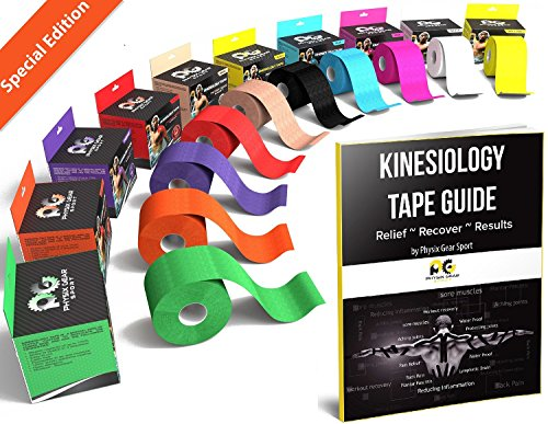 orange-kinesiology-tape-pro-2-x-165-1-pack-by-physix-gear-sport-best-waterproof-muscle-support-adhes