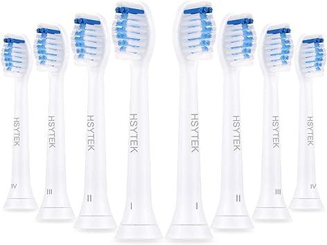 Paquete de 8 cabezales de cepillo de dientes de recambio para Philips Sonicare, de color azul, de la marca HSYTEK HX6068: Amazon.es: Salud y cuidado personal
