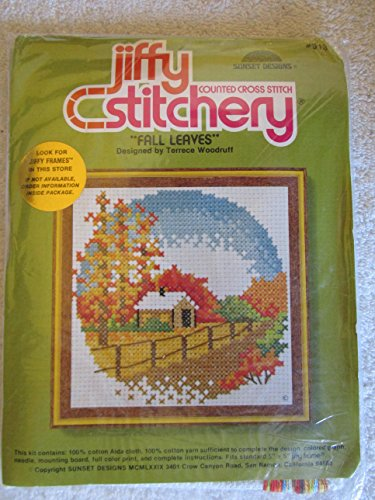 Fall Leaves Counted Cross Stitch Kit