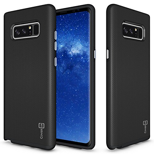 CoverON Rugged Series Galaxy Note 8 Case, Tough Protective Armor Phone Cover with Easy-Press Metalized Buttons
