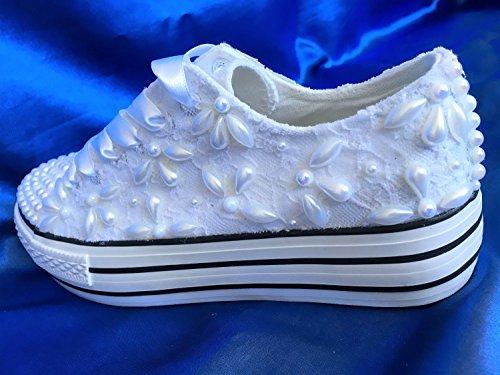 Wedding Shoes Wedges Sneakers, Bridal