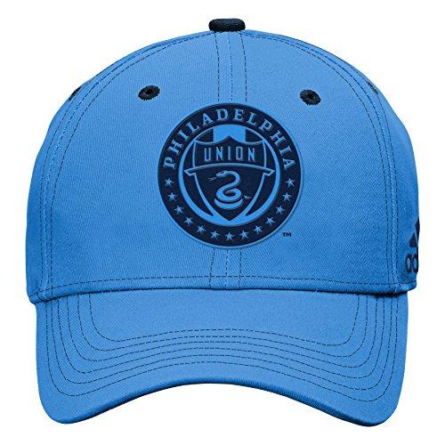 Outerstuff MLS Philadelphia Union Boys Tonal Logo Structured Adjustable Hat, Light Blue, One Size (8)