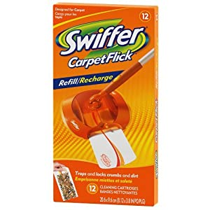 Amazon Com Swiffer Carpetflick Refill Pack 12 Ct Home