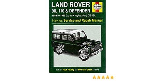 Land Rover 90 110 Defender Official Factory Workshop Manual 1983-1992 Service