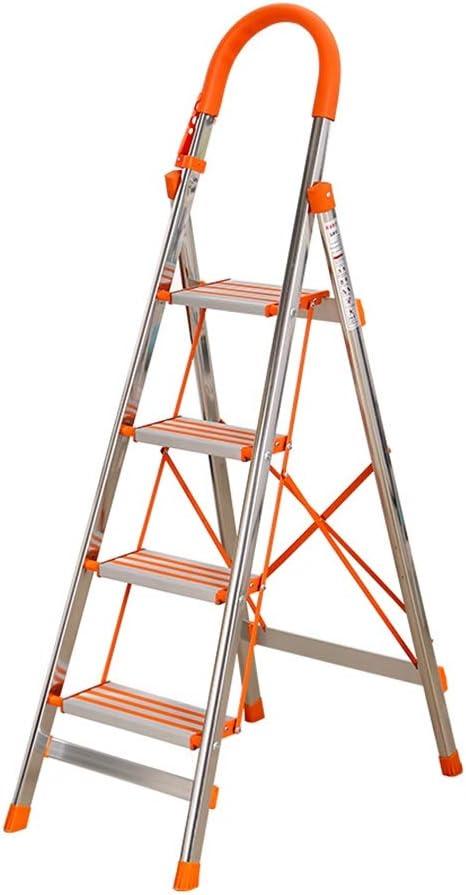 Bseack_store Escalera del hogar Ligero con Bandeja de Herramientas Plegable 4 Escalera Plegable de múltiples Funciones de escaleras móviles portátiles for tapicería/Ascendente: Amazon.es: Hogar