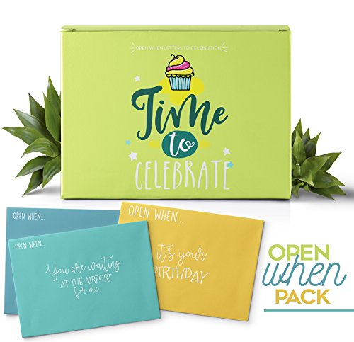 THE BEST GIFT  Open When Letters For Your Special Person, The Perfect Gift to Celebrate 24 Envelopes With Amazing Topics 24 Blank Notes To Express All Your Feelings. It's Time To Celebrate