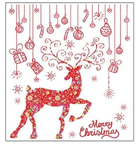 Jolly Jon Christmas Window Clings Wall Decals - Home Room & Store Decoration - Business Windows Design (Design # 1) -