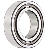 SKF NJ 2210 ECP Cylindrical Roller Bearing, Single Row, Removable Inner Ring, Flanged, Straight Bore, High Capacity, Normal Clearance, Polyamide/Nylon Cage, Metric, 50mm Bore, 90mm OD, 23mm Width