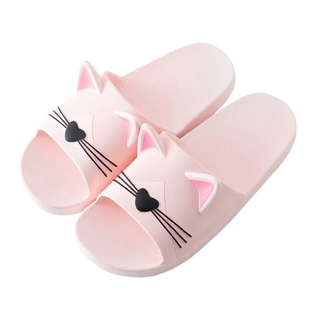 Family Indoors Slippers,Men/&Women Babys Home Cartoon Cat Slippers Floor Family Shoes Beach Sandals